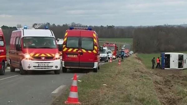 Gers : un accident entre un bus scolaire et une voiture fait 7 blessés graves