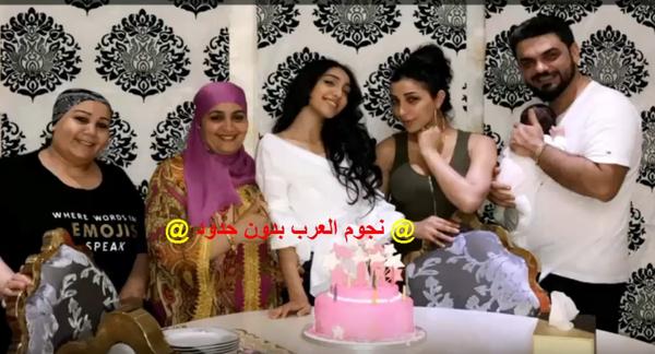 محمد الترك يفاجئ أخت دنيا بطمه في عيد ميلادها