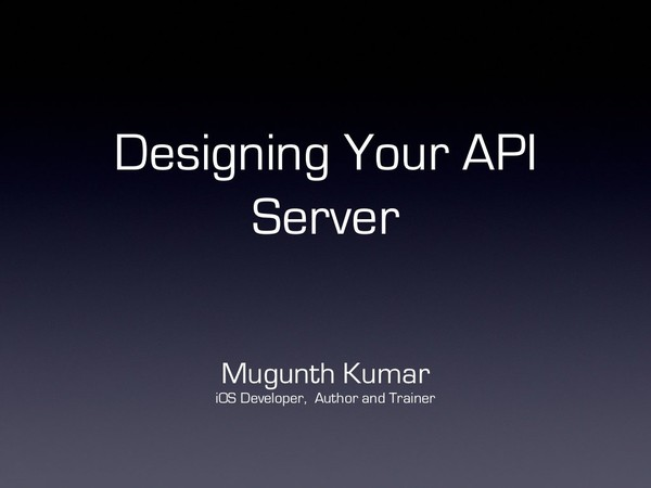 Designing your API Server for mobile apps