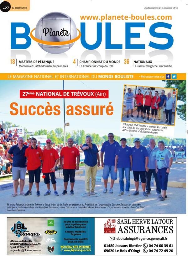 Sortie du N°27 du magazine Planète Boules.