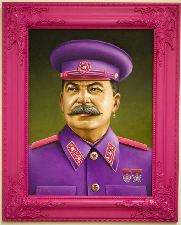 "Scott Scheidly: a series of ""fabulous"" depictions of tyrants, dictators and popes."