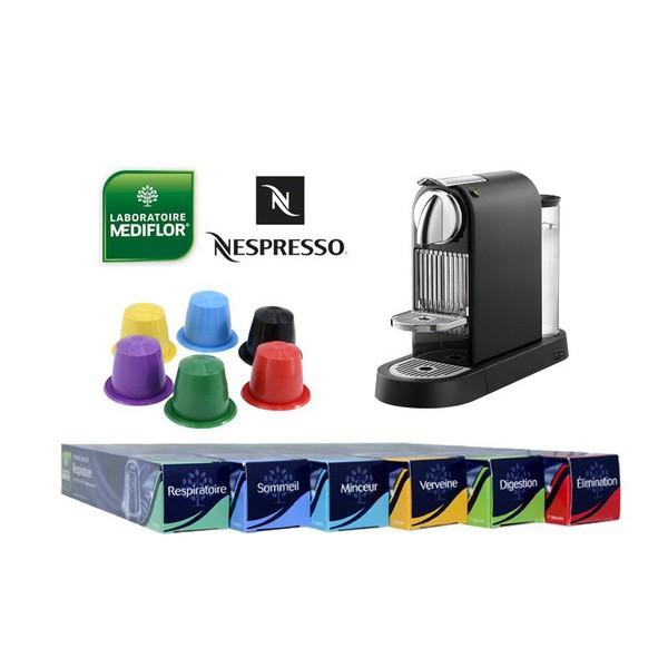 Concours : 4 étuis d'infusion santé en capsule du Laboratoire Médiflor et une machine Nespresso