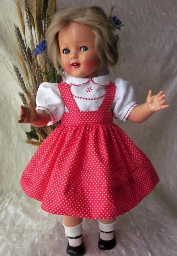 Magnifique jupe pour poupée ancienne Raynal, Celluloid, Porcelaine, Bella