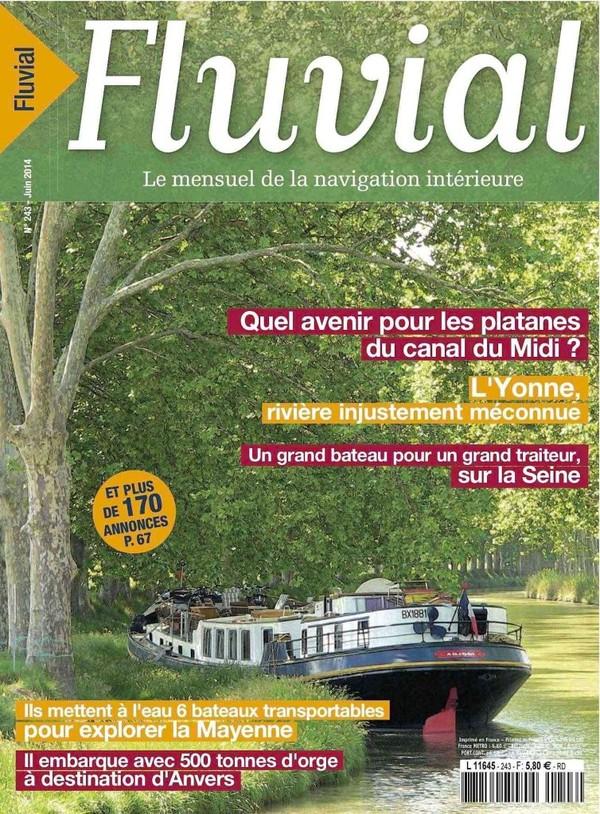 Revue Fluvial Vient de paraître Fluvial 243 - Le numéro de juin est en kiosque