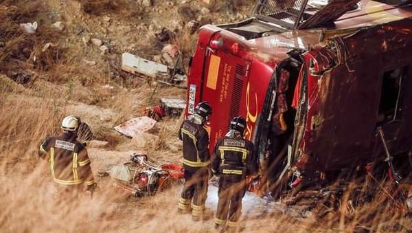 Accident de car en Espagne: 12 morts