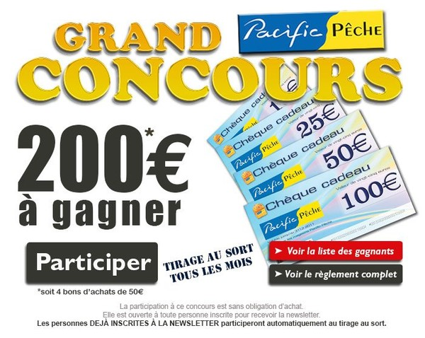 Concours 200 euros à gagner chaque mois