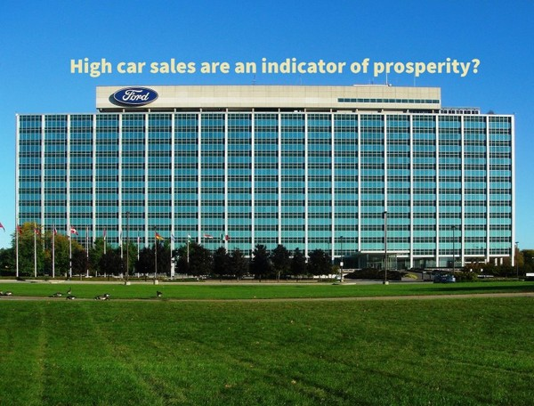 Are high car sales an indicator of prosperity?