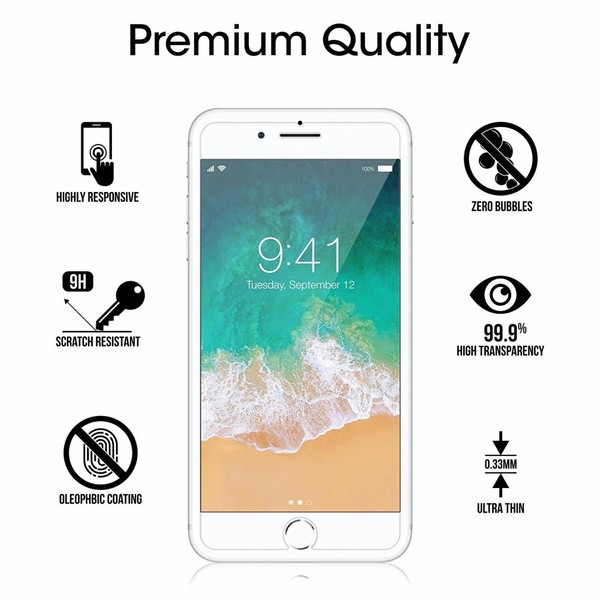 Top 5 Best iPhone 8 Plus Tempered Glass Screen Protector