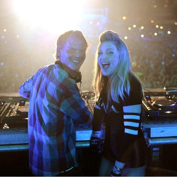 "Madonna on Instagram: ""So Sad....... So Tragic. Good Bye Dear Sweet Tim. 💙 Gone too Soon. #avicii"""