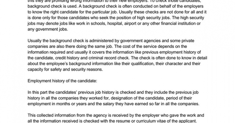 Utility of Background Check Program by Strategic Information Resources, Inc.