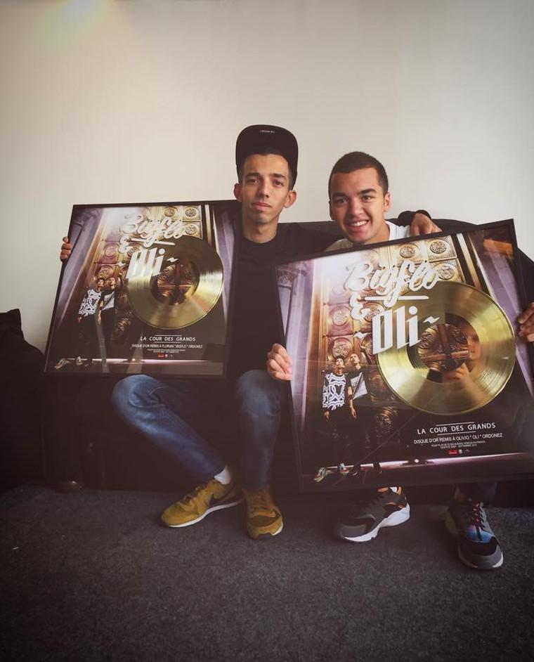 La cour des grands l'album de Bigflo et Oli certifié disque d'or