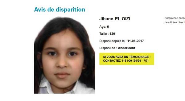 Disparition de Jihane à Anderlecht : un homme recherché par la police