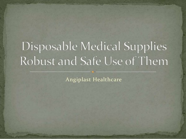 We in like manner offer an extensive assortment of good quality Disposable Medical Supplies for general surgery, anesthesia, urology, gastroenterology, pediatr…