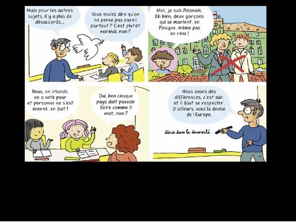 La bande dessinée sur l'Europe de Nathalie Loiseau accusée de banaliser l'homophobie