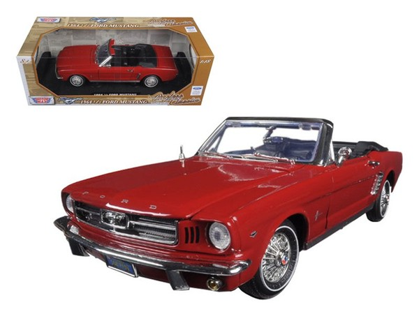 "Diecast Model Car 1964 Ford Mustang Convertible Red ""Timeless Classics"""