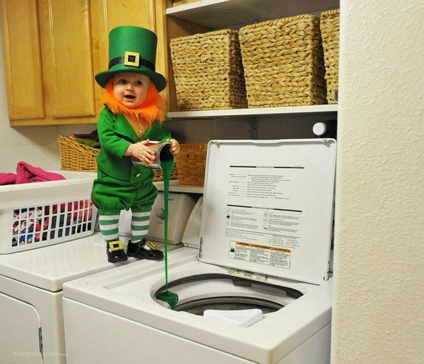 Look! Dad Transfers His 6-Month-Old Baby into a Mischievous Leprechaun for St. Patrick's Day - NICE PLACE TO VISIT