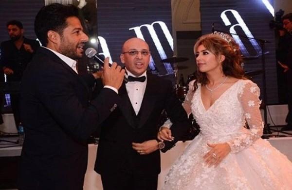 حفل زفاف الفنانة المغربية جنات في مصر بحضور محمد حماقي وتامر عشور