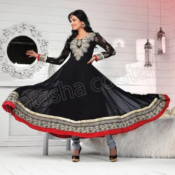 8866486cf New Party Wear Indian Anarkali Frocks 2014 By Sonal Chauhan For ...