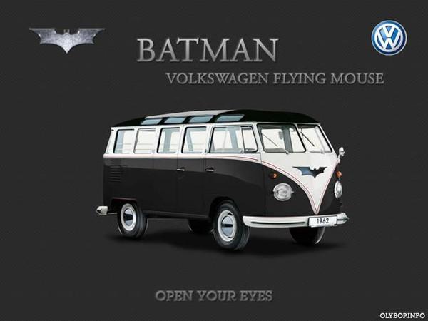 Batman, Spiderman, Superman – Si les Super Héros roulaient en Combis VolksWagen | Ufunk.net