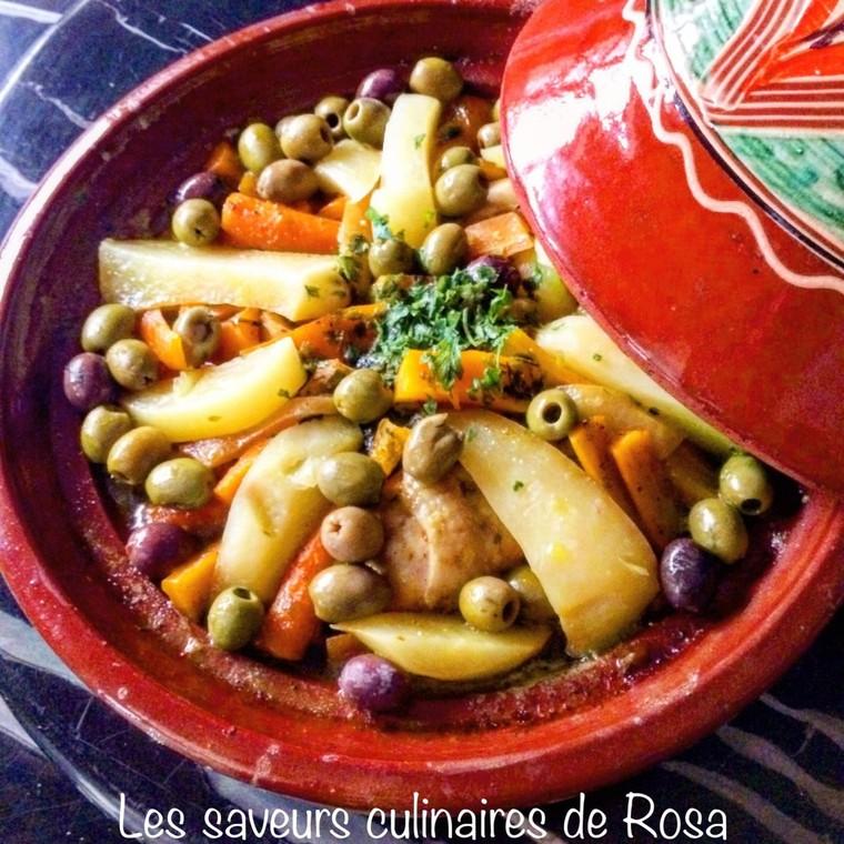 Tajine de poulet, pommes de terre et carottes  - Les saveurs culinaires de Rosa
