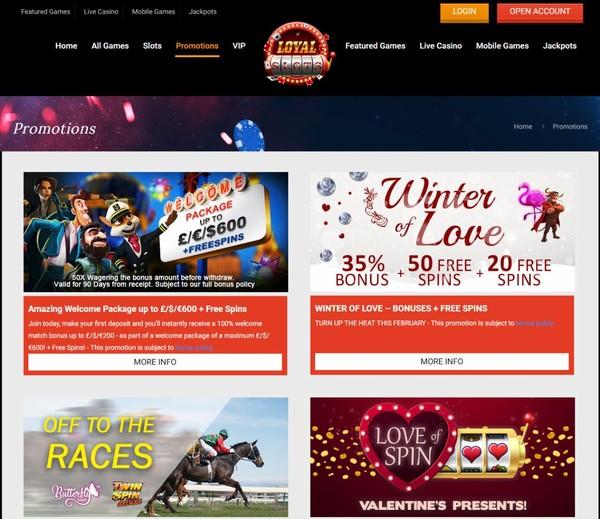 Valentine's Cash at Loyal Slots - New Online Slot Sites