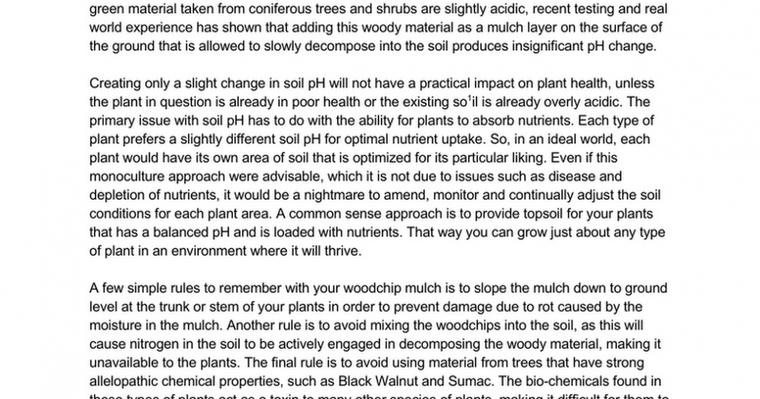 Common Myth on Using Woodchips