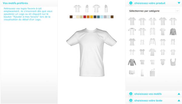 Personnaliser t-shirts. Avec Artiz, créez vos habits et vêtements. Pulls, sweats, polo...