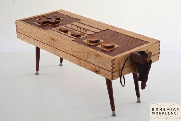 Fancy!: Functional Wooden NES Controller Coffee Table | Geekologie