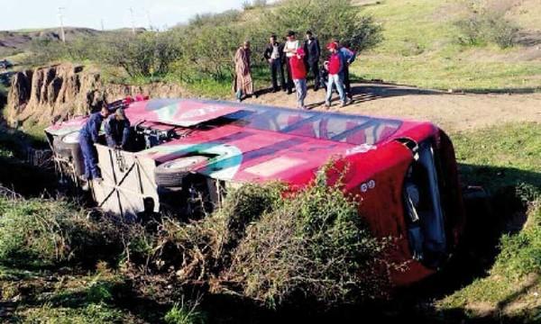 Chabab Atlas Khénifra : 29 blessés dans un accident de la route - LE MATIN.ma