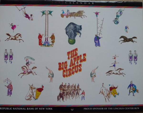 Calendrier Big Apple Circus 1992