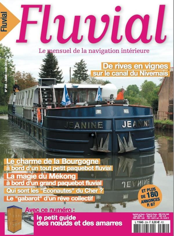 Revue Fluvial Vient de paraître FLUVIAL 234 - Le numéro d'été est dans les kiosques et les maisons de Presse