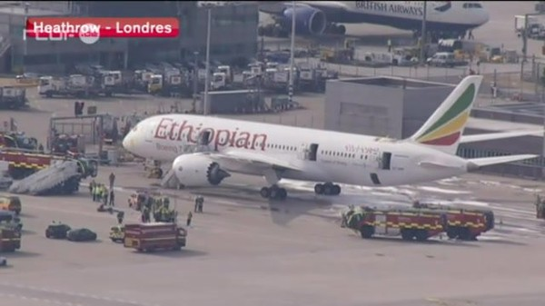 Accident d'avion à Heathrow du 12 juillet 2013, info : RTBF Vidéo