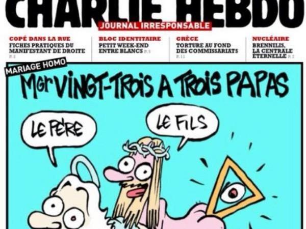 Provocation contre l'Eglise catholique en une de Charlie Hebdo - Rue89