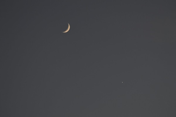 Rapprochement Lune-Vénus - astronomie27