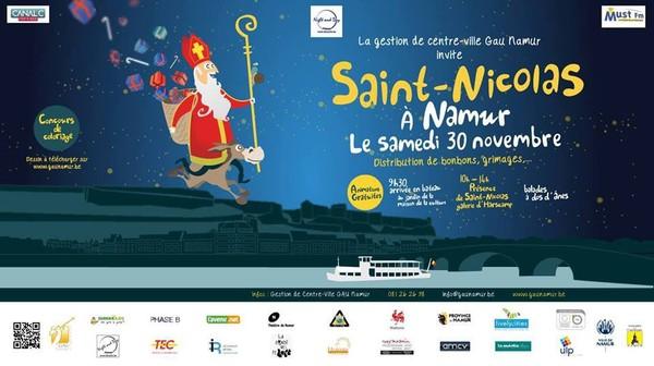 Saint-Nicolas à Namur, le 30 novembre prochain...