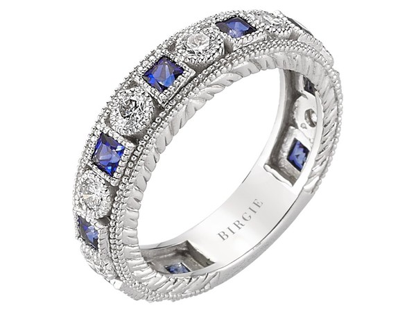 Diamond and Sapphire Stone Eternity Ring - 107R0013 | Birgie Diamonds