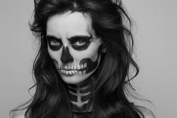 Highly simple female skeleton makeup - NICE PLACE TO VISIT