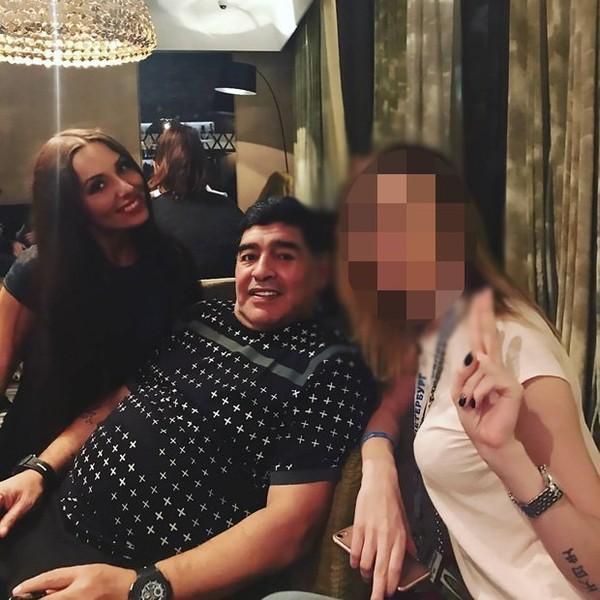 Kabar Miring Maradona Saat Menonton Final Piala Konfederasi Rusia