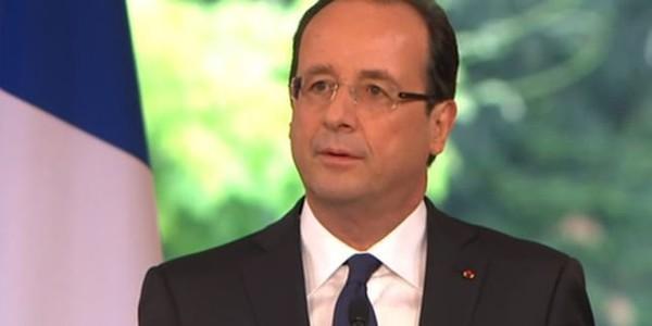 Le premier discours de président de François Hollande