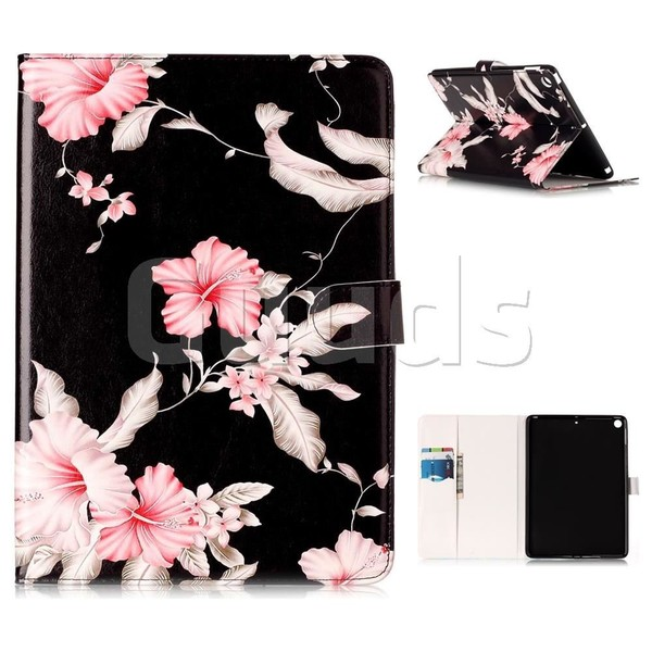 Azalea Flower Folio Flip Stand PU Leather Wallet Case for iPad Pro 9.7 2017 9.7 inch - Leather Case - Guuds