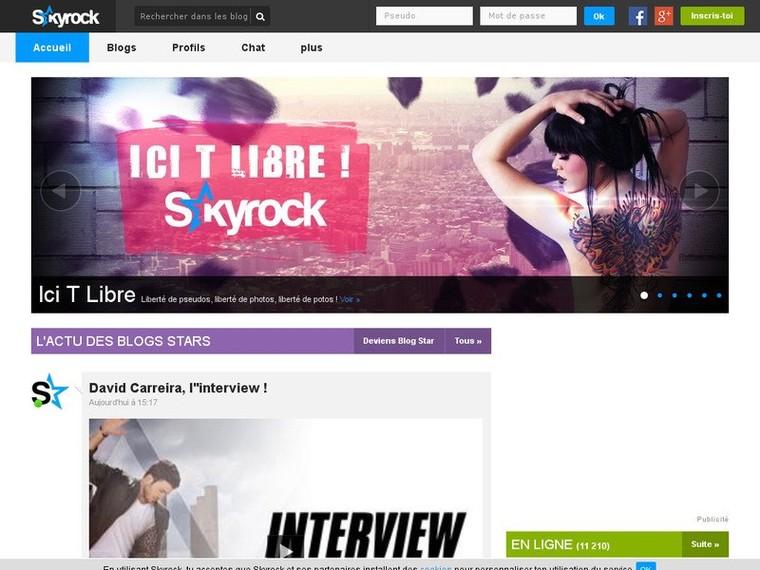 Skyrock - Le N°1 des réseaux de blogs! | Mag90Recherche