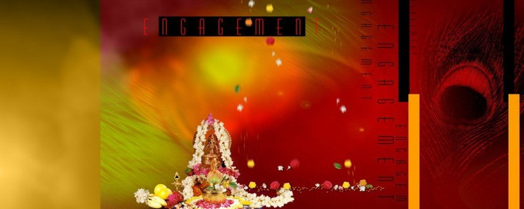 Free Download Ganesh Puja For Engagement Ceremony PSD Background