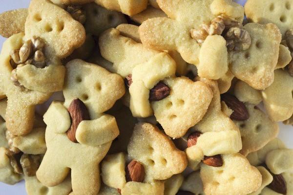 Recette - Petits biscuits ours aux amandes et aux noix | Notée 4.1/5