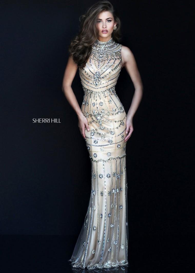 2016 Sherri Hill 50239 Heavily Beaded Sleeveless Gown [sherri hill ...