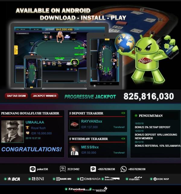 Poker Online Indonesia Penyedia Bank Terlengkap