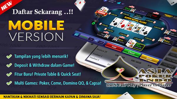 Cara Bermain Poker Lewat Smartphone Android dan IOS