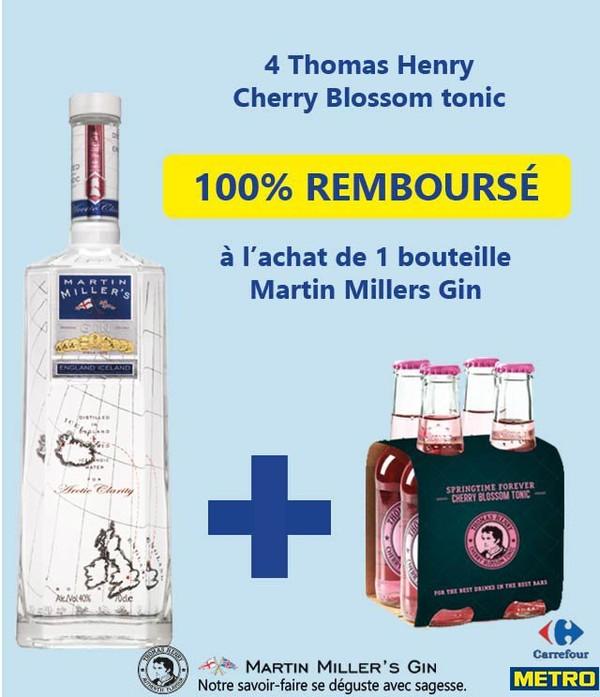 Cashback Martin Millers Gin & Thomas Henry - myShopi