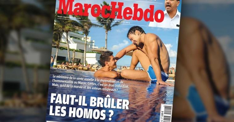 « Faut-il brûler les homos ? » : la Une homophobe de « Maroc Hebdo »