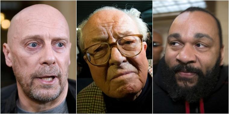 Jean-Marie Le Pen a fêté son 87ème anniversaire avec Dieudonné et Alain Soral - Le Lab Europe 1