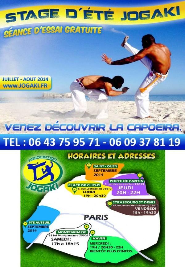Stage de Capoeira a Paris | Vacances d'été Juillet-Août 2014 | Cours d'essai Gratuit | pour enfants, ados et adultes.